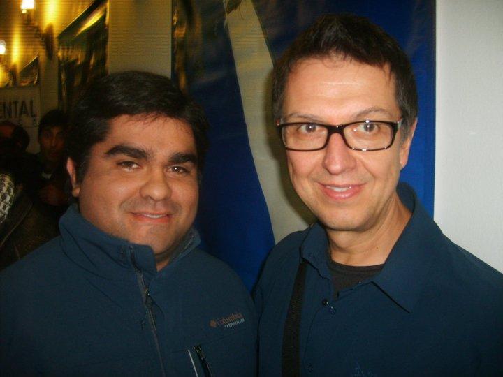 Junto a Alain Caron