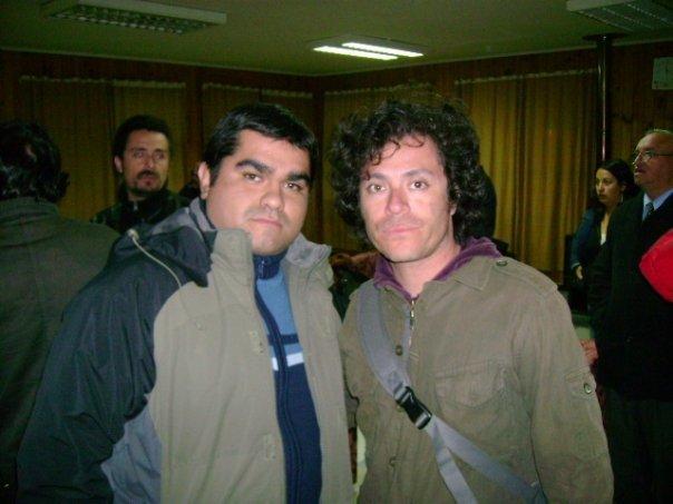 Junto a Felipe Ilabaca de Chancho en Piedra