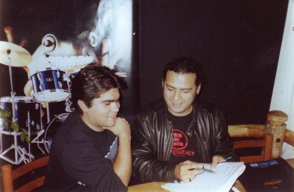 Junto a Jorge Campos