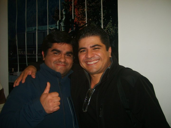 Junto a Otmaro Ruiz